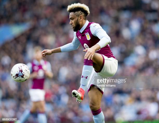 Jordan Amavi of Aston Villa during the Sky Bet Championship match between Aston Villa and Reading at Villa Park on April 15 2017 in Birmingham England