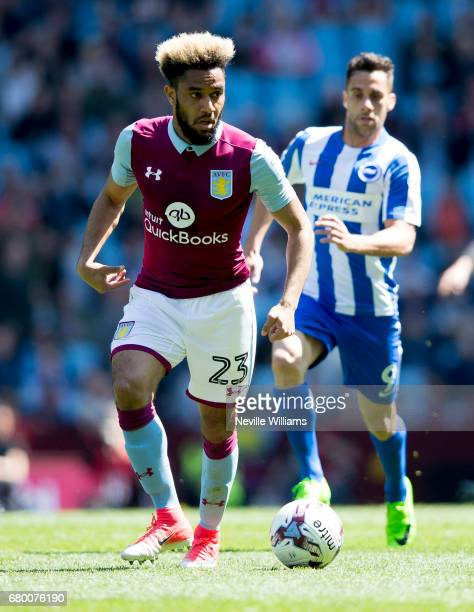 Jordan Amavi of Aston Villa during the Sky Bet Championship match between Aston Villa and Brighton Hove Albion at Villa Park on May 07 2017 in...