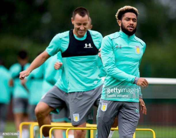 Jordan Amavi of Aston Villa in action during a Aston Villa training session at the club's training ground at Bodymoor Heath on August 04 2017 in...