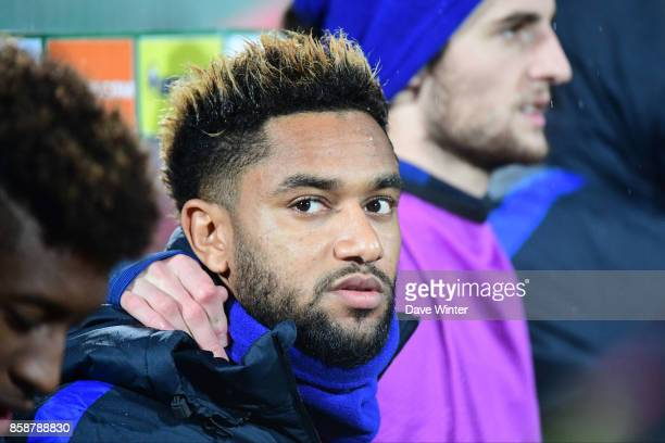 Jordan Amavi of France on the bench during the Fifa 2018 World Cup qualifying match between Bulgaria and France on October 7 2017 in Sofia Bulgaria