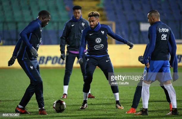 Jordan Amavi of France warms down following the FIFA 2018 World Cup Qualifier between Bulgaria and France at Vasil Levski National Stadium on October...
