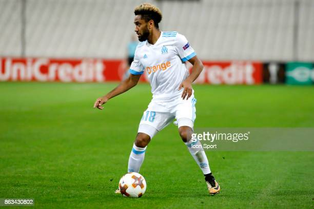 Jordan Amavi of Marseille during the Europa League match between Olympique de Marseille and Vitoria Guimaraes SCat Stade Velodrome on October 19 2017...