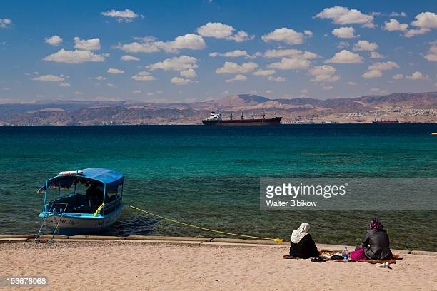 Jordan, Aqaba, Aqaba Beach on the Red Sea