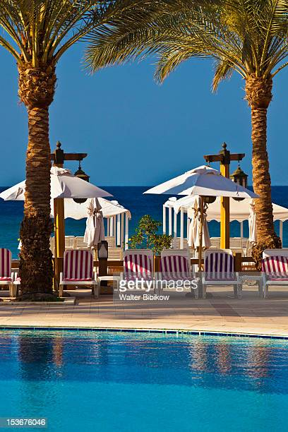 Jordan, Aqaba, Red Sea Beach, hotel swimming pool