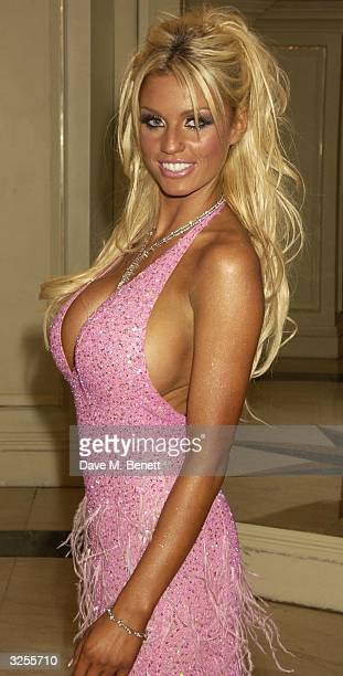 Jordan attends the 15th annual 'British Book Awards' also known as the Nibbies at Grosvenor House Park Lane on April 7 2004 in London The awards...