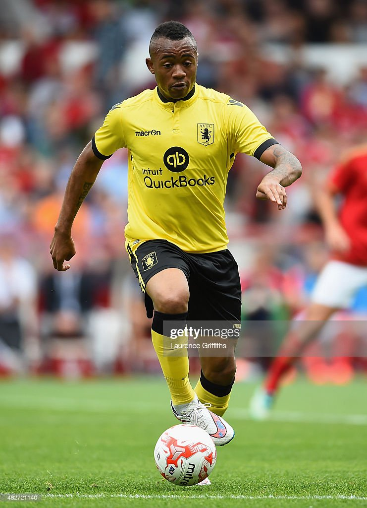Jordan Ayew of Aston Villa in action during the Pre Season Friendly match between Nottingham Forest and Aston Villa at City Ground on August 1 2015...