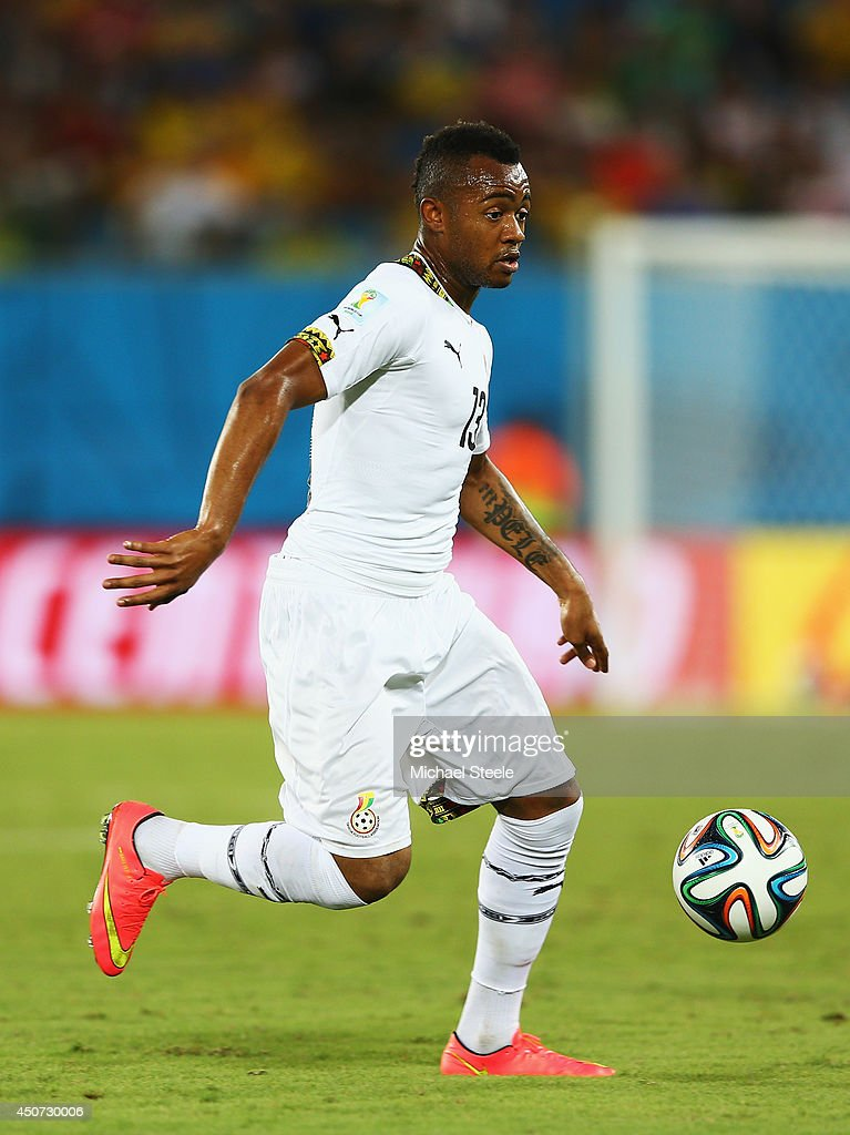 Jordan Ayew of Ghana controls the ball during the 2014 FIFA World Cup Brazil Group G match between Ghana and the United States at Estadio das Dunas...