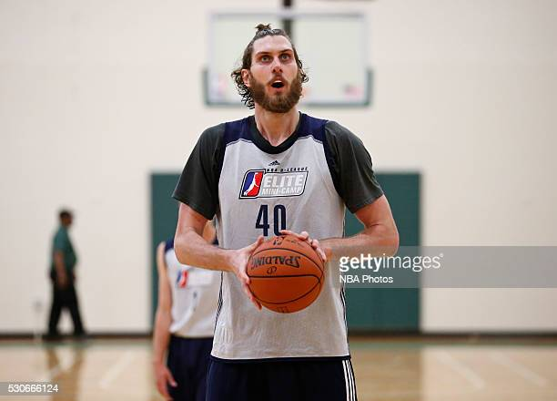 Jordan Bachynski shoots the ball during the NBA Development League seventh annual Elite Mini Camp May 9 2016 at the Quest Multisport gym in Chicago...