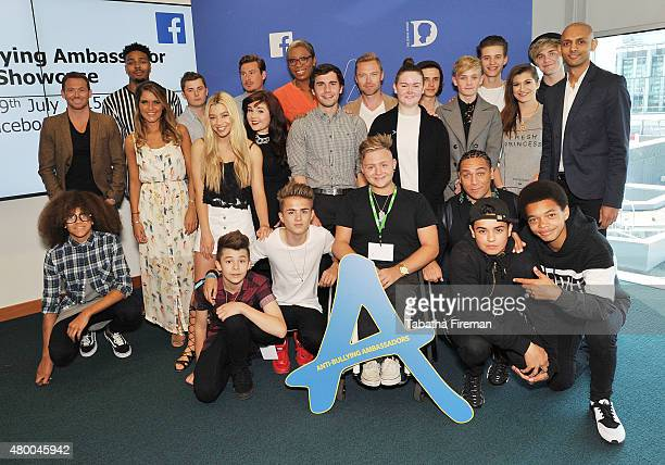 Jordan Banjo Ronan Keating Joe Swash Gemma Oaten Molly Rainford Rebecca Craven Perri Kiely Charlie and Leondre of Bars Melody attend a photocall for...