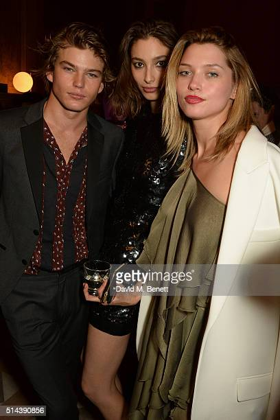 Jordan Barrett and guests attends the Red Obsession party in Paris to celebrate L'Oreal Paris's partnership with Paris Fashion Week L'Oreal Paris...