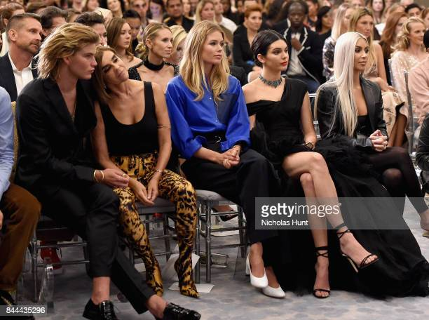 Jordan Barrett Carine Roitfeld Doutzen Kroes Kendall Jenner and Kim Kardashian West attend the Daily Front Row's Fashion Media Awards at Four Seasons...