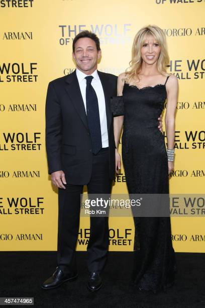 Jordan Belfort and guest attend the 'The Wolf Of Wall Street' premiere at Ziegfeld Theater on December 17 2013 in New York City