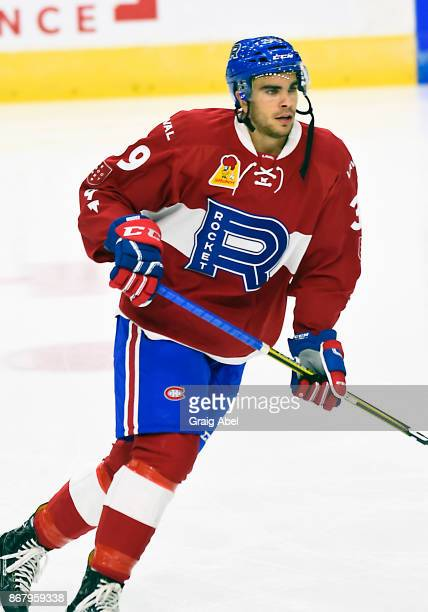 Jordan Boucher of the Laval Rocket skates in warmup prior to a game against the Toronto Marlies during AHL game action on October 28 2017 at Ricoh...