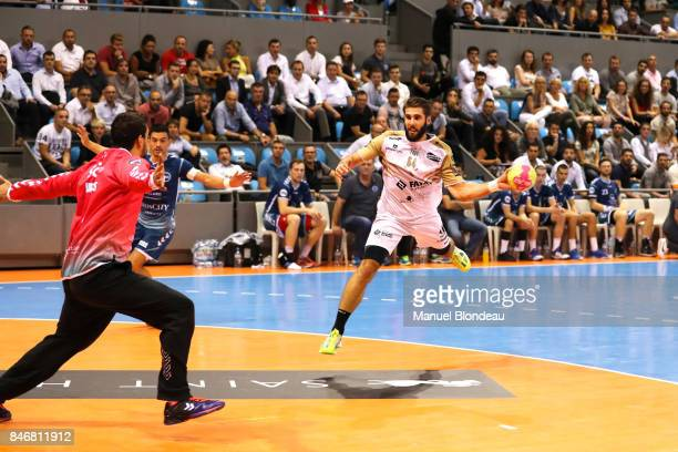 Jordan Camarero of Aix during Lidl Star Ligue match between Fenix Toulouse and Pays D'aix Universite Club on September 13 2017 in Toulouse France