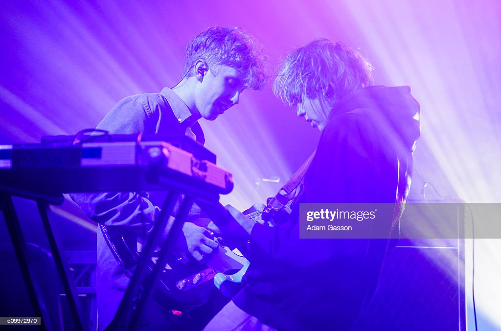 Jordan Cardy (right), known by his stage name Rat Boy, performs on the second day of the BBC 6 Music Festival at Colston Hall on February 13, 2016 in Bristol, England.