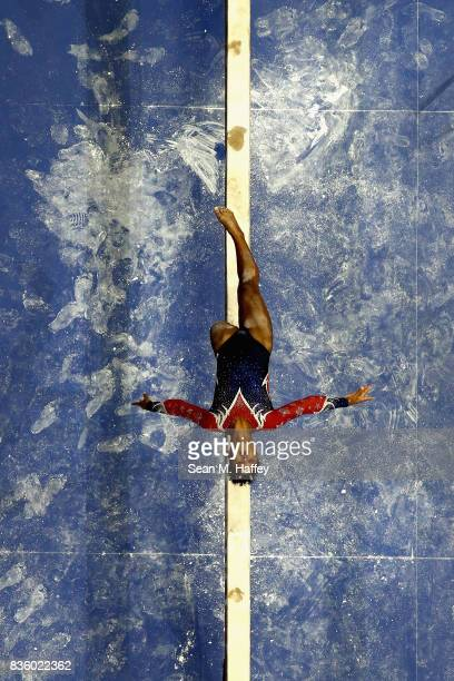Jordan Chiles competes on the Balance Beam during the PG Gymnastics Championships at Honda Center on August 20 2017 in Anaheim California
