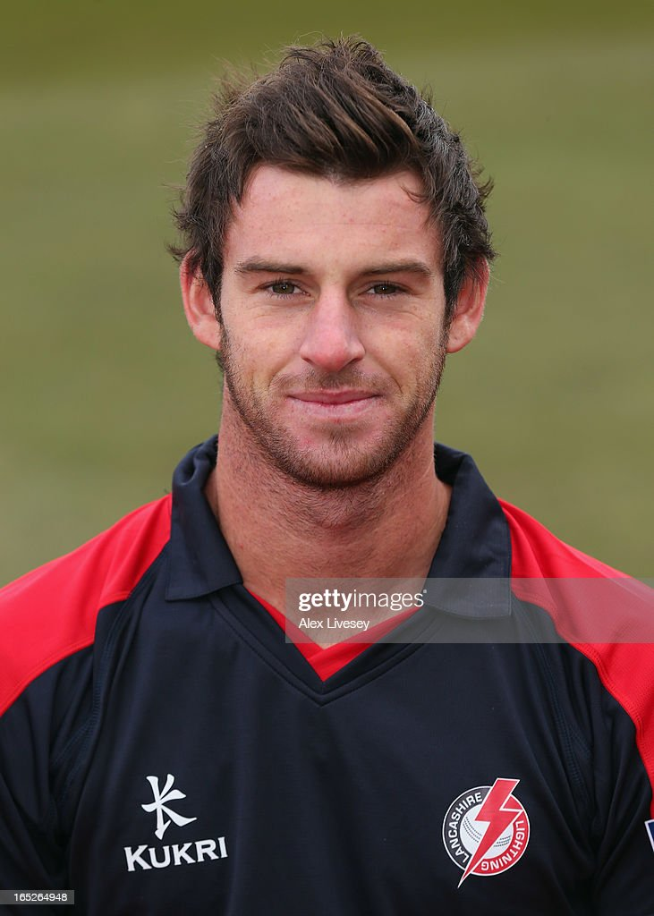 Jordan Clark of Lancashire CCC wears the Yorkshire 40 during a pre-season photocall at Old Trafford on April 2, 2013 in Manchester, England.
