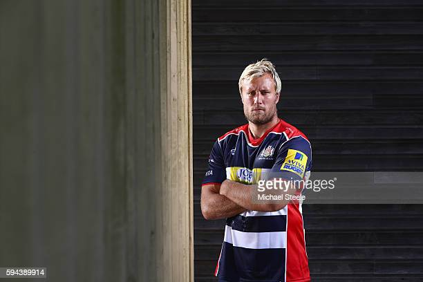 Jordan Crane poses for a portrait during the Bristol Rugby squad photo call for the 20162017 Aviva Premiership Rugby season on August 23 2016 in...