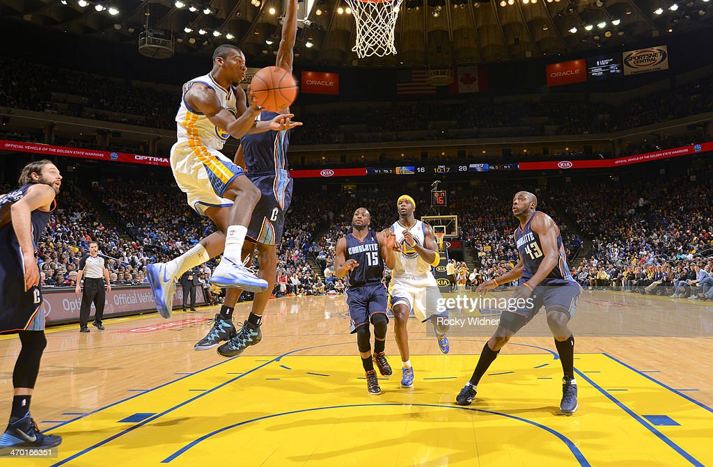<a gi-track='captionPersonalityLinkClicked' href=/galleries/search?phrase=Jordan+Crawford&family=editorial&specificpeople=4779380 ng-click='$event.stopPropagation()'>Jordan Crawford</a> #55 of the Golden State Warriors passes against the Charlotte Bobcats on February 4, 2014 at Oracle Arena in Oakland, California.