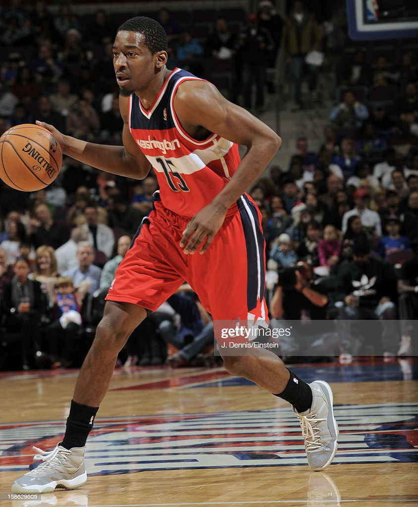 <a gi-track='captionPersonalityLinkClicked' href=/galleries/search?phrase=Jordan+Crawford&family=editorial&specificpeople=4779380 ng-click='$event.stopPropagation()'>Jordan Crawford</a> #15 of the Washington Wizards dibbles the ball up the court against the Detroit Pistons during the game on December 21, 2012 at The Palace of Auburn Hills in Auburn Hills, Michigan.