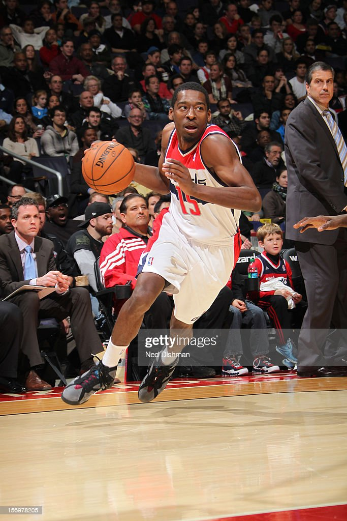 <a gi-track='captionPersonalityLinkClicked' href=/galleries/search?phrase=Jordan+Crawford&family=editorial&specificpeople=4779380 ng-click='$event.stopPropagation()'>Jordan Crawford</a> #15 of the Washington Wizards drives to the basket against the Charlotte Bobcats during the game at the Verizon Center on November 24, 2012 in Washington, DC.