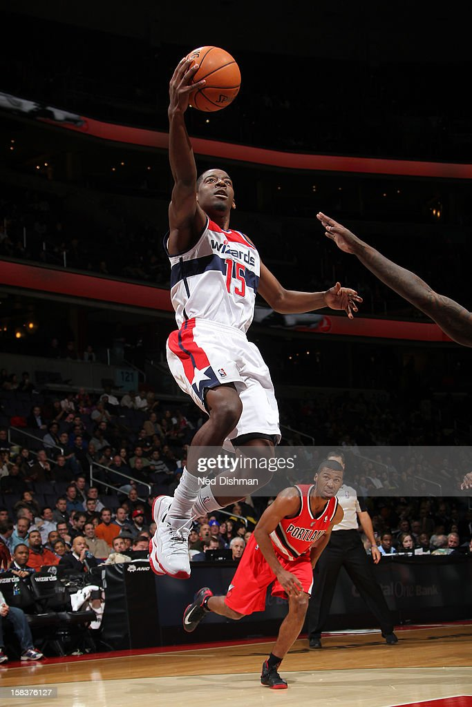 <a gi-track='captionPersonalityLinkClicked' href=/galleries/search?phrase=Jordan+Crawford&family=editorial&specificpeople=4779380 ng-click='$event.stopPropagation()'>Jordan Crawford</a> #15 of the Washington Wizards drives to the basket against the Portland Trail Blazers at the Verizon Center on November 28, 2012 in Washington, DC.