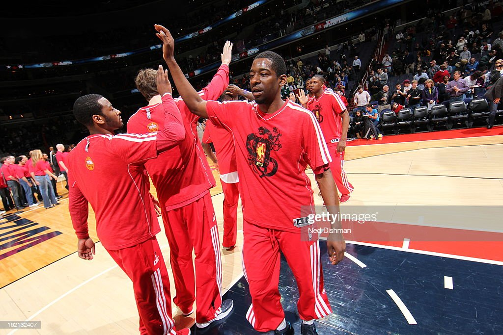 <a gi-track='captionPersonalityLinkClicked' href=/galleries/search?phrase=Jordan+Crawford&family=editorial&specificpeople=4779380 ng-click='$event.stopPropagation()'>Jordan Crawford</a> #15 of the Washington Wizards gets introduced before the game against the Brooklyn Nets on February 8, 2013 at the Verizon Center in Washington, DC.