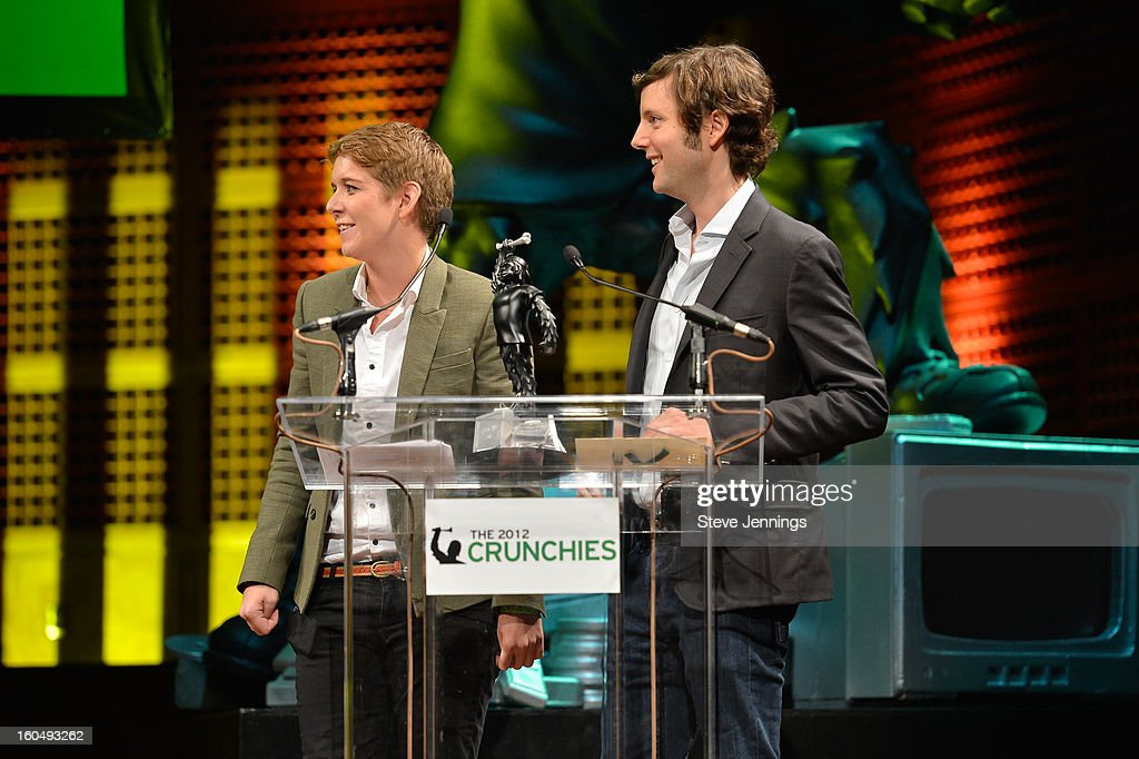 Jordan Crool and Matt Cohler present award at the 6th Annual Crunchies Awards at Davies Symphony Hall on January 31, 2013 in San Francisco, California.