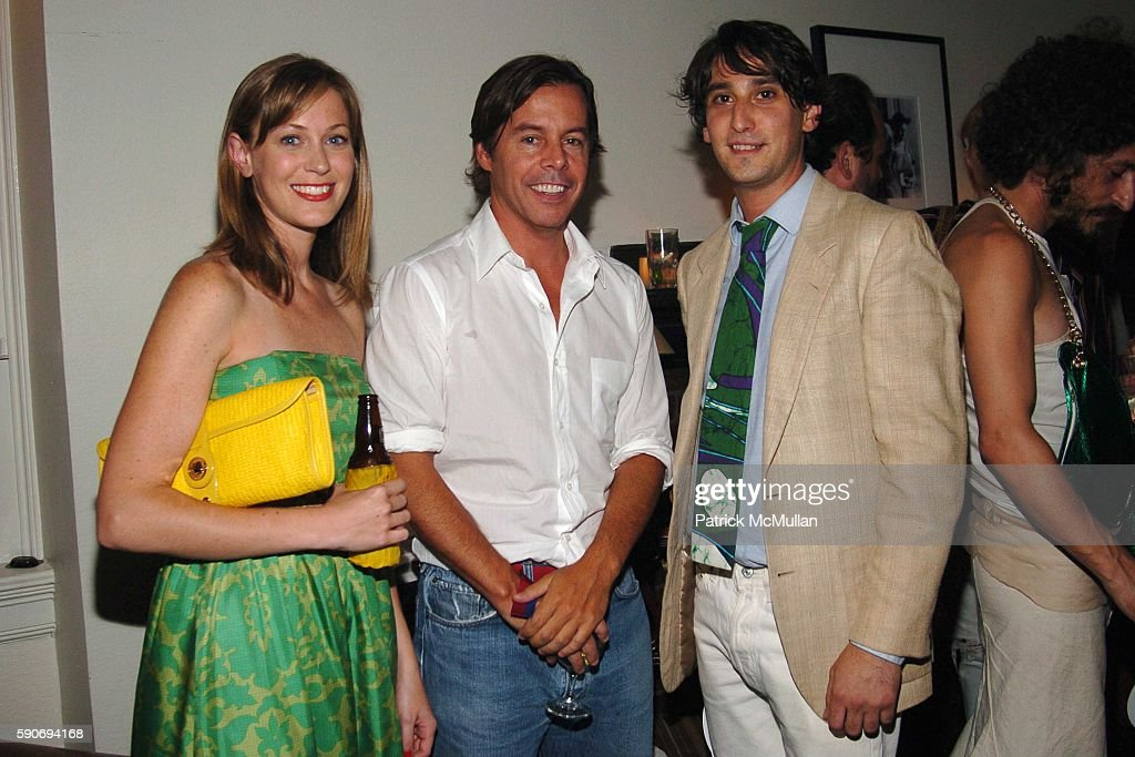 Jordan Daly Andy Spade and Mordecai Rubenstein attend An Evening of Short Films hosted by Jack Spade at The National Arts Club on July 28 2005 in New...