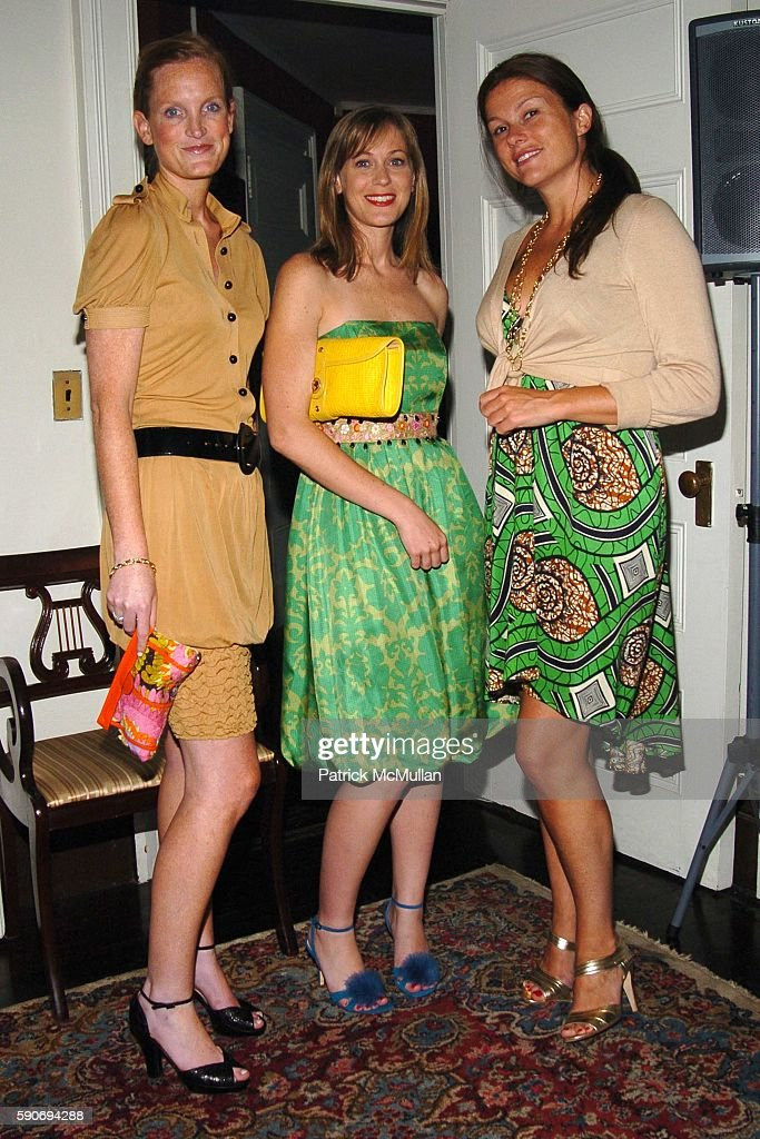 Jordan Daly Nicole Pedersen and Mary Beth Schmitt attend An Evening of Short Films hosted by Jack Spade at The National Arts Club on July 28 2005 in...
