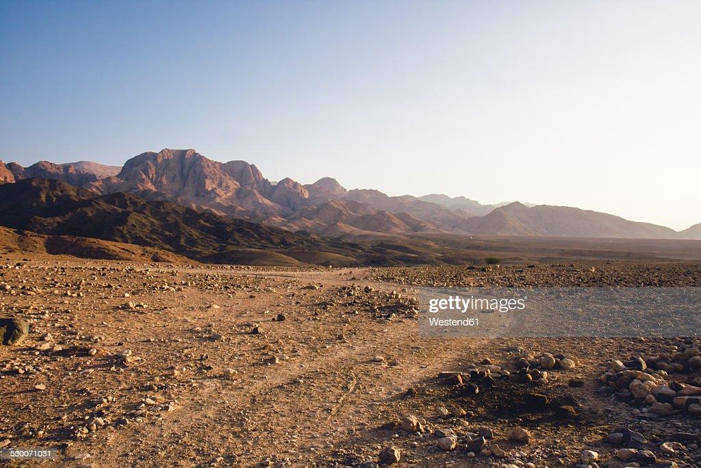 Jordan, Dana Biosphere Reserve, Wadi Feynan at sunset