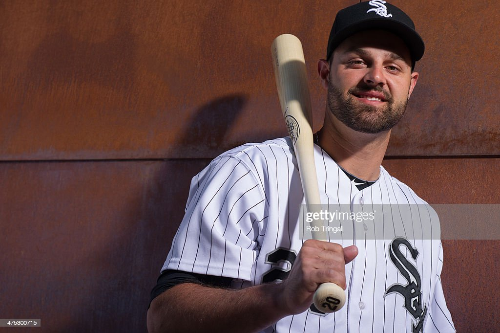 <a gi-track='captionPersonalityLinkClicked' href=/galleries/search?phrase=Jordan+Danks&family=editorial&specificpeople=2364706 ng-click='$event.stopPropagation()'>Jordan Danks</a> #20 of the Chicago White Sox poses for a portrait on photo day at the Glendale Sports Complex on February 22, 2014 in Glendale, Arizona.