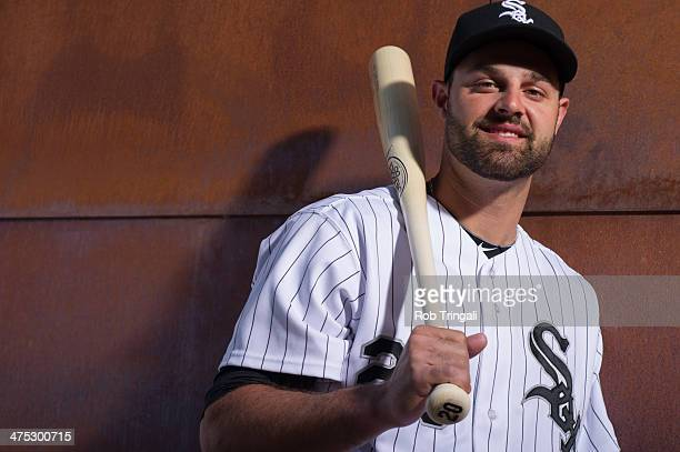 Jordan Danks of the Chicago White Sox poses for a portrait on photo day at the Glendale Sports Complex on February 22 2014 in Glendale Arizona