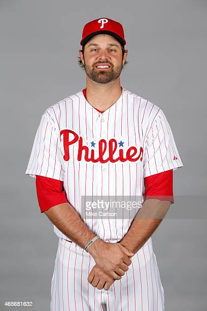 Jordan Danks of the Philadelphia Phillies poses during Photo Day on Friday February 27 2015 at Bright House Field in Clearwater Florida