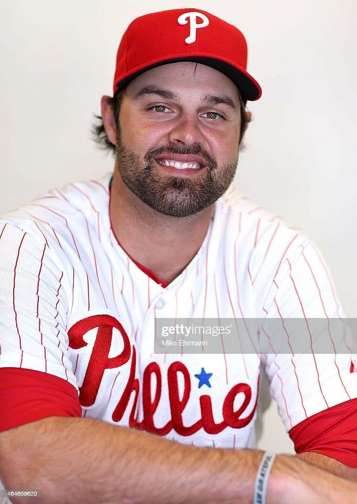 <a gi-track='captionPersonalityLinkClicked' href=/galleries/search?phrase=Jordan+Danks&family=editorial&specificpeople=2364706 ng-click='$event.stopPropagation()'>Jordan Danks</a> #15 of the Philadelphia Phillies poses for a portrait during photo day at Brighthouse Stadium on February 27, 2015 in Clearwater, Florida.