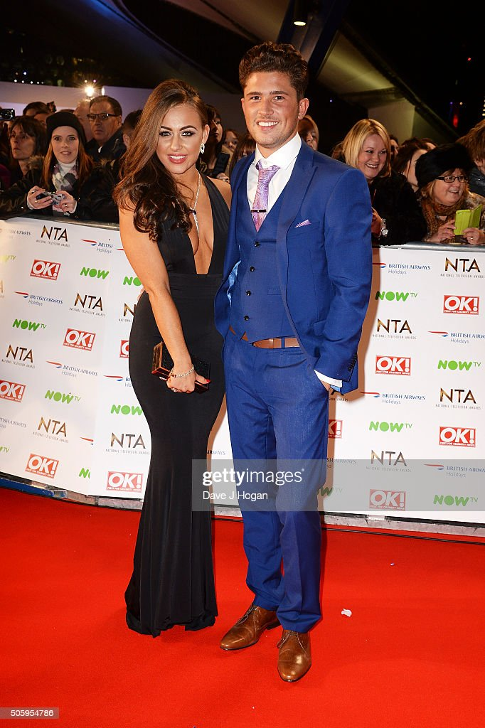 Jordan Davies (L) and Ashleigh Defty attend the 21st National Television Awards at The O2 Arena on January 20, 2016 in London, England.
