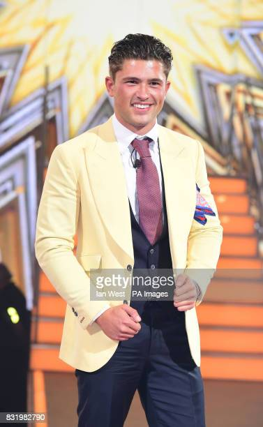 Jordan Davies is evicted from the Celebrity Big Brother house at Elstree Studios in Borehamwood Hertfordshire