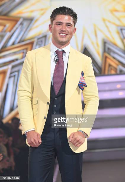 Jordan Davies is evicted from the Celebrity Big Brother house at Elstree Studios on August 15 2017 in Borehamwood England