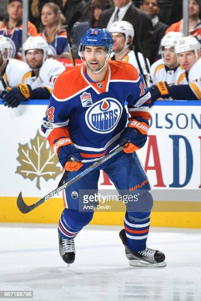 Jordan Eberle of the Edmonton Oilers skates during the game against the Nashville Predators on January 20 2017 at Rogers Place in Edmonton Alberta...