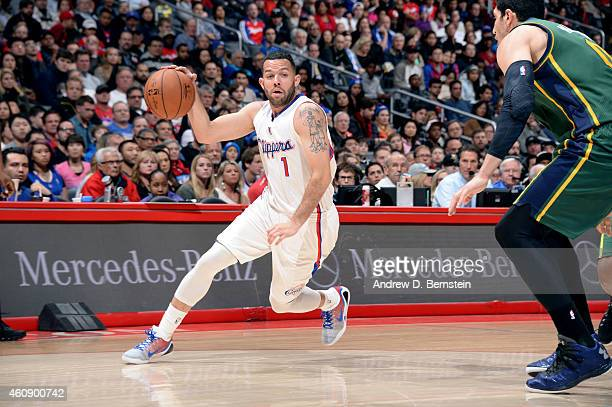 Jordan Farmar of the Los Angeles Clippers drives against the Utah Jazz on December 29 2014 at STAPLES Center in Los Angeles California NOTE TO USER...