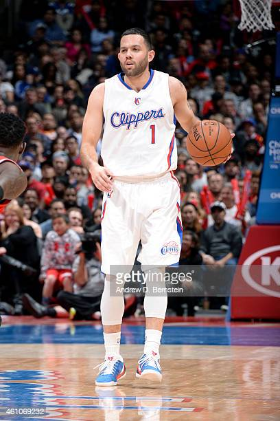 Jordan Farmar of the Los Angeles Clippers handles the ball against the Atlanta Hawks on January 5 2015 at STAPLES Center in Los Angeles California...