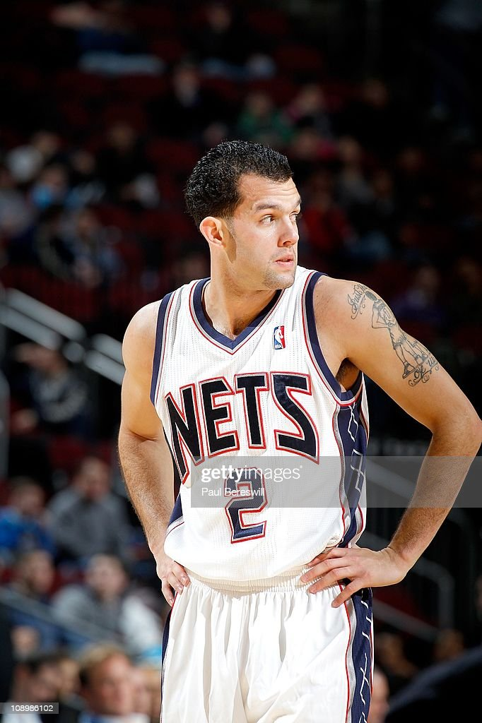 <a gi-track='captionPersonalityLinkClicked' href=/galleries/search?phrase=Jordan+Farmar&family=editorial&specificpeople=228137 ng-click='$event.stopPropagation()'>Jordan Farmar</a> #2 of the New Jersey Nets during the game against the New Orleans Hornets on February 9, 2011 at the Prudential Center in Newark, New Jersey.