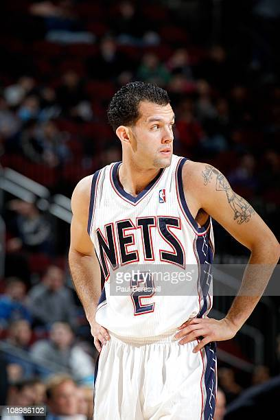 Jordan Farmar of the New Jersey Nets during the game against the New Orleans Hornets on February 9 2011 at the Prudential Center in Newark New Jersey...
