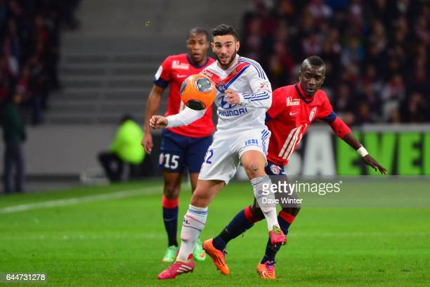 Jordan FERRI / Idrissa GUEYE Lille / Lyon 26eme journee de Ligue 1 Photo Dave Winter/ Icon Sport