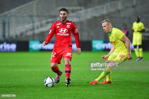 Jordan FERRI / Kolbeinn SIGTHORSSON Nantes / Lyon 16eme journee de Ligue 1 Photo Dave Winter / Icon Sport