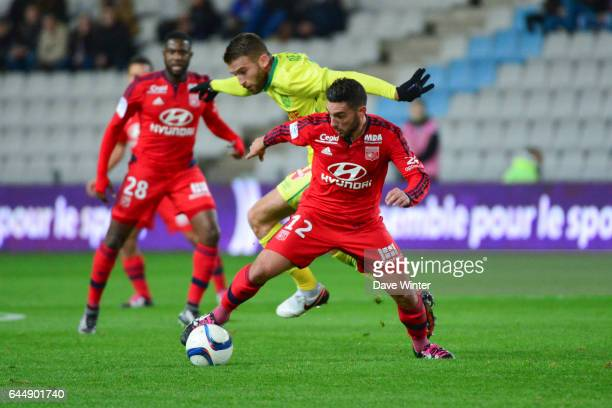 Jordan FERRI / Lucas DEAUX Nantes / Lyon 16eme journee de Ligue 1 Photo Dave Winter / Icon Sport
