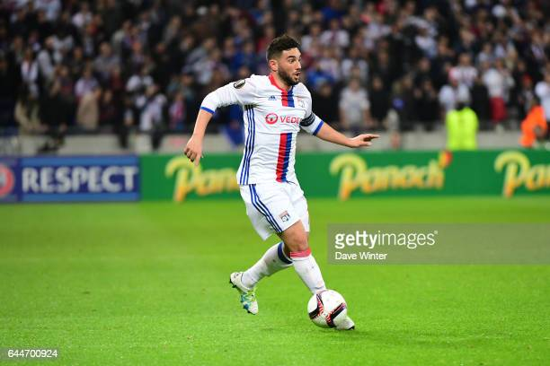 Jordan Ferri of Lyon during the Europa League match between Olympique Lyonnais and AZ Alkmaar at Stade des Lumieres on February 23 2017 in...