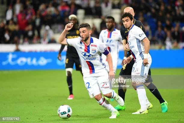 Jordan Ferri of Lyon during the Ligue 1 match between Olympique Lyonnais and AS Monaco at Stade des Lumieres on April 23 2017 in DecinesCharpieu...