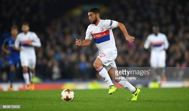 Jordan Ferri of Lyon during the UEFA Europa League group E match between Everton FC and Olympique Lyon at Goodison Park on October 19 2017 in...