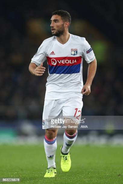 Jordan Ferri of Olympique Lyonnais during the UEFA Europa League group E match between Everton FC and Olympique Lyon at Goodison Park on October 19...